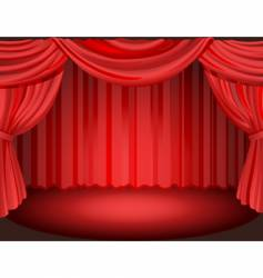 curtain vector image vector image