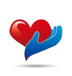 healthcare heart concept icon vector image
