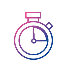 line clock alarm to know the hour time vector image vector image