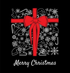 merry christmass paketic1 resize vector image vector image