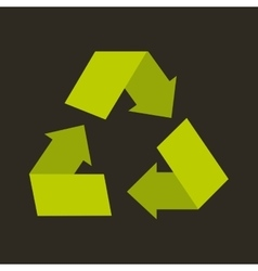 recycle arrows symbol ecology vector image