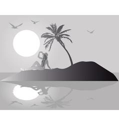 Silhouette island vector