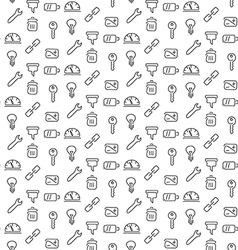 Technical tools pattern seamless vector image vector image