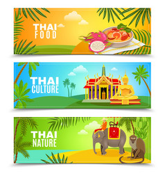 Thailand Horizontal Banners vector image vector image