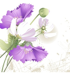 Wild flowers in color vector image vector image