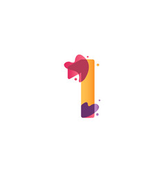 1 years anniversary celebration flux template vector
