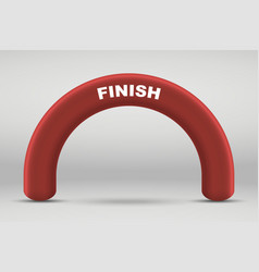 3d inflatable finish line arch vector