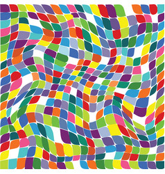 a seamless repeating pattern of colored squares vector image