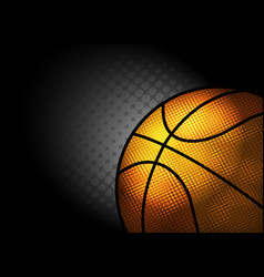 Abstract backgroundbasketball theme with copy vector