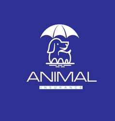Animal insurance logo designs vector