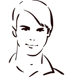 attractive young man vector image