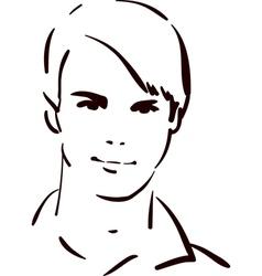 Attractive young man vector