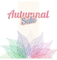 Autumnal sale background eps 10 vector
