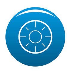 backsight icon blue vector image