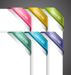 Bookmark Labels Corner vector image