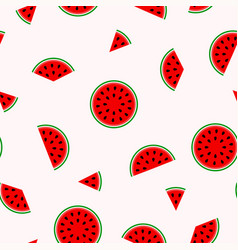 bright pattern with slices watermelon vector image