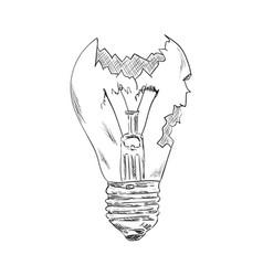 Broken bulb vector