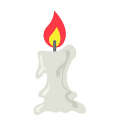 Candle icon flat icon halloween and scary easter vector