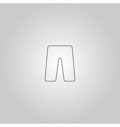 Capri flat icon vector