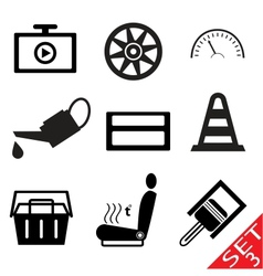 car part icon set 3 vector image