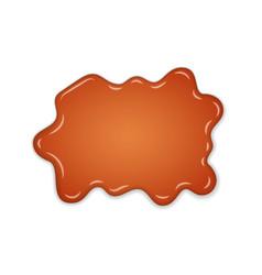 caramel drop realistic caramel flow liquid vector image