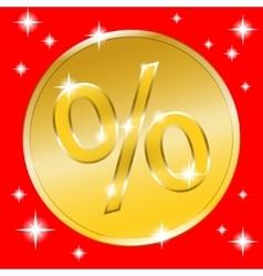 Coin gold button vector