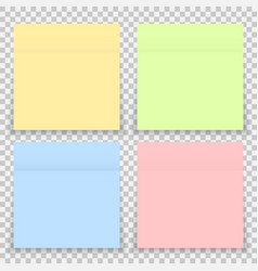 Colorful office sticker note paper isolated vector