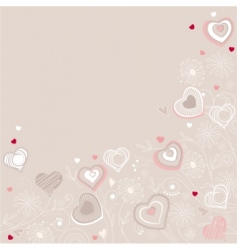 contour hearts on pastel background vector image