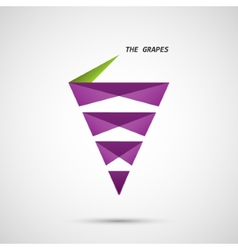 Creative icon of grapes on a simple background vector