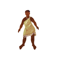 Cute happy african aborigine in cute national vector
