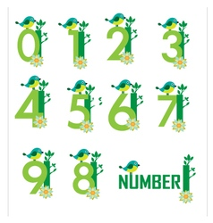 Cute Number vector image