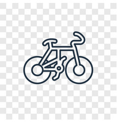 cyclist concept linear icon isolated on vector image