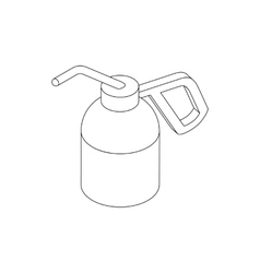 Dioxide bottle for paintball icon isometric 3d vector