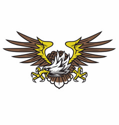 eagle logo retro tattoo design vector image