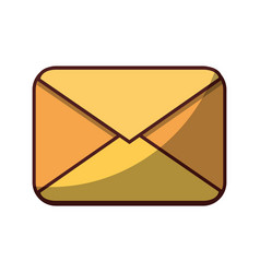 email correspondence message icon isolated design vector image