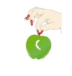 Eve and the apple vector image