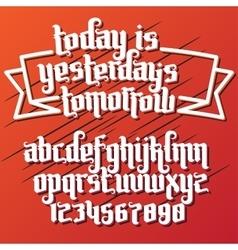 fantasy label font vector image
