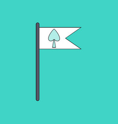 Flat icon design collection cards symbol on flag vector