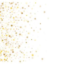 Gold star dust sparkle on white vector