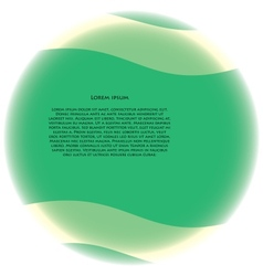 green sphere vector image