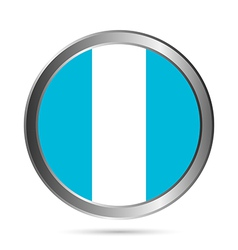Guatemala flag button vector