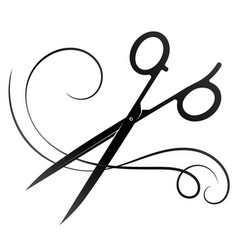 Hairdresser scissors and curl hair vector