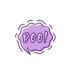 halloween message boo bubble moans vector image