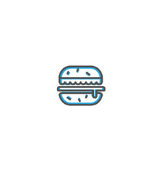 hamburger icon design gastronomy icon vector image