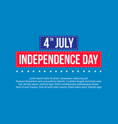 Happy independence day design banner vector