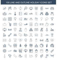 Holiday icons vector