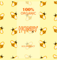 honey bee healthy delicious natural seamless vector image
