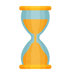 hourglass countdown flat isolate on a white vector image
