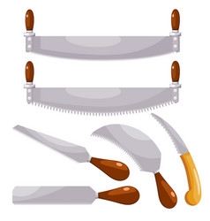 household saws set household saws in a style vector image