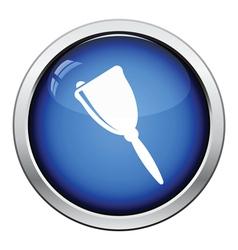 Icon of school hand bell vector